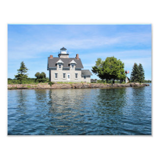 Schwester-Insel-Leuchtturm, 1.000 Inseln New York Fotodruck