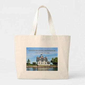 Schwester-Insel-Leuchtturm, riesige Taschen-Tasche Jumbo Stoffbeutel