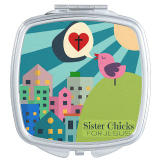 Schwester-Küken für kompakten Spiegel Jesuss Taschenspiegel