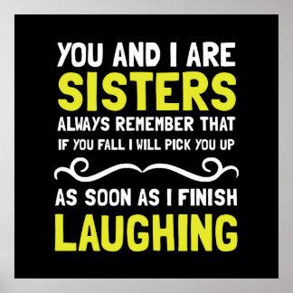 Schwester-Lachen Poster