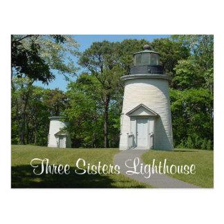 Schwester-Leuchtturm Cape Cods drei, Postkarte