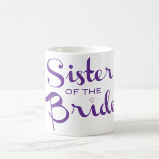 Schwester-Retro Skript lila Kaffeetasse