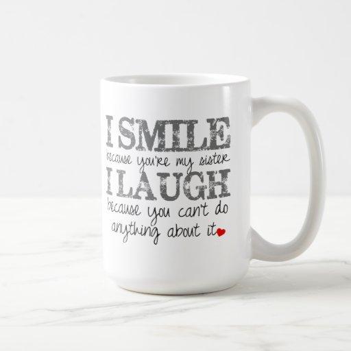 Schwester-Zitat-Kaffee-Tasse