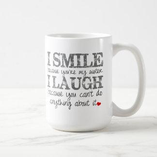 Schwester-Zitat-Kaffee-Tasse Tasse