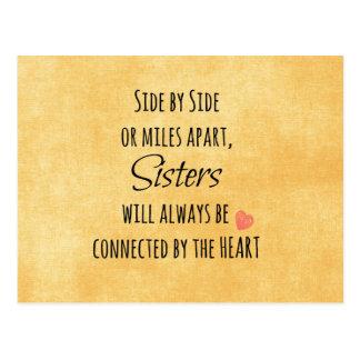 Schwester-Zitat Postkarte