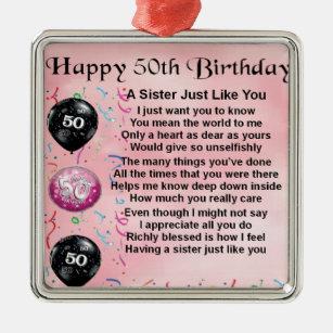 50 Geburtstag Schwester Wohndekoration Haustierzubehor Zazzle De