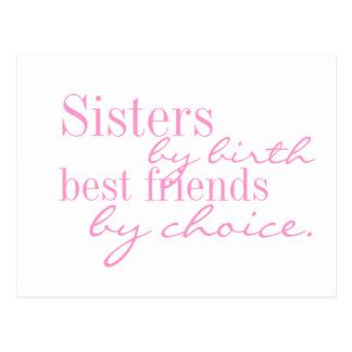 Schwestern durch Geburt, beste Freunde durch die Postkarte