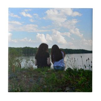 Schwestern/Freunde Kleine Quadratische Fliese