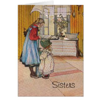 Schwestern - Koket Handels Carl Larsson Karte