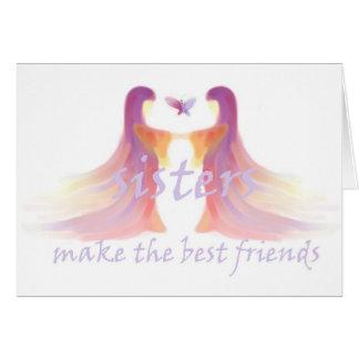Schwestern machen die besten Freunde Karte