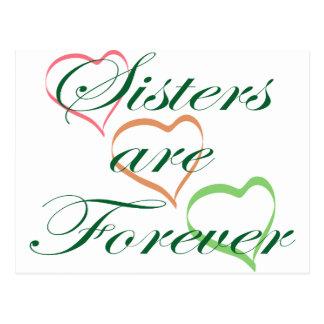 Schwestern sind Forever Postkarte