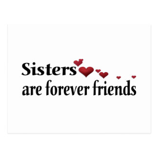 Schwestern sind für immer Freunde Postkarte