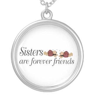 Schwestern sind für immer Freunde Versilberte Kette