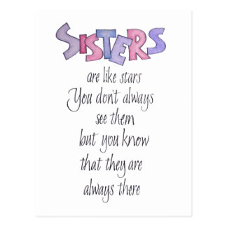 Schwestern sind wie Stern-Postkarte Postkarte