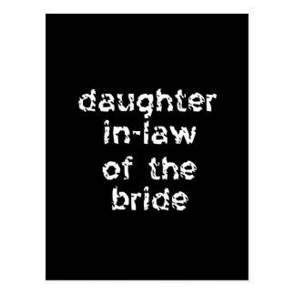 Schwiegertochter der Braut Postkarte