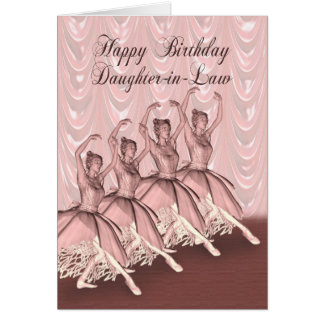 Schwiegertochter, eine Ballerinageburtstagskarte Karte
