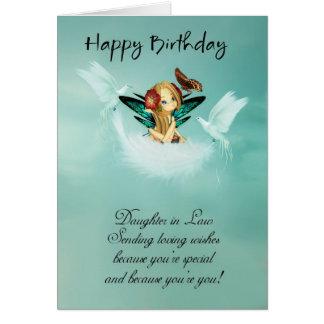 Schwiegertochter-feenhafte Geburtstags-Karte mit Karte
