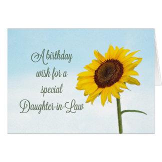 Schwiegertochter-religiöser Sonnenblume-Geburtstag Karte