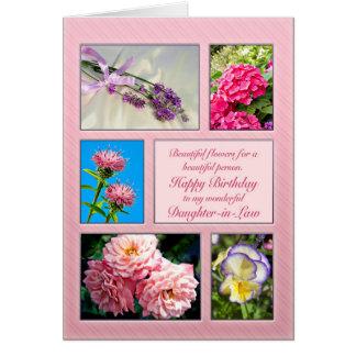 Schwiegertochter, schöne Blumengeburtstagskarte Karte