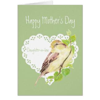 Schwiegertochter-Spatzen-Vogel der Mutter Tages Karte