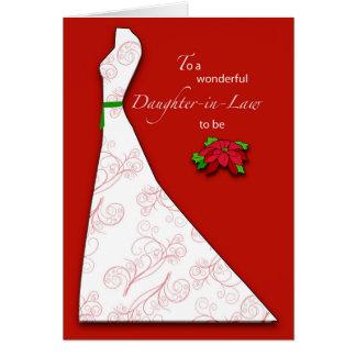 Schwiegertochter, zum Brautparty-Silhouette, Ch zu Karte