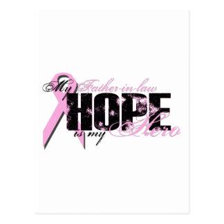 Schwiegervater mein Held - Brustkrebs-Hoffnung Postkarte