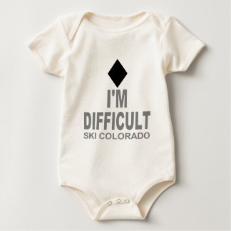 Schwieriger Ski Colorado Baby Strampler