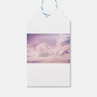 Schwimmen auf flaumige lila Wolken Geschenkanhänger