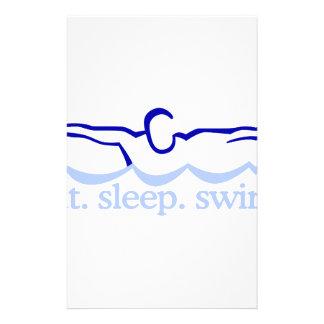 Schwimmen Briefpapier