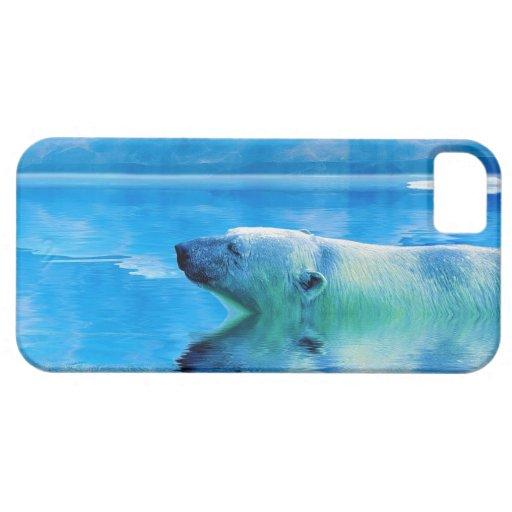 Schwimmen-Eisbär u. Eis iPhone 5 Fall Schutzhülle Fürs iPhone 5