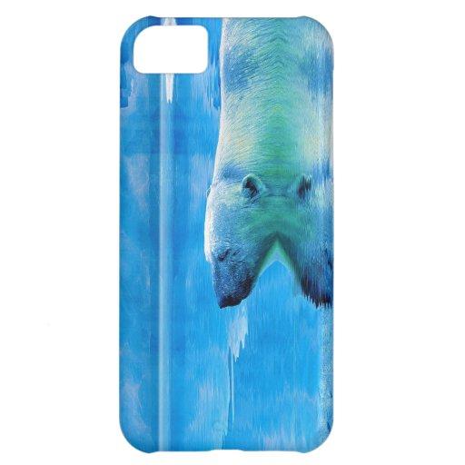 Schwimmen-Eisbär u. Eis iPhone 5 Fall iPhone 5C Cover