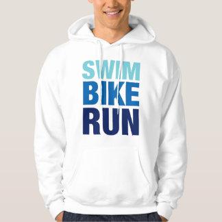 Schwimmen-Fahrrad-Lauf Hoodie