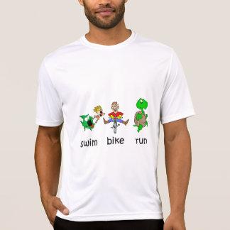 Schwimmen-Fahrrad-Lauf Tshirts