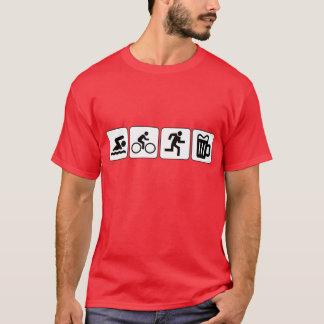 Schwimmen-Fahrrad-Laufgetränk T-Shirt