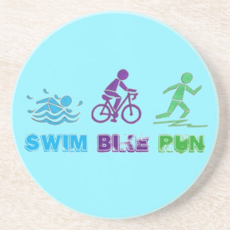 Schwimmen-Fahrrad-LaufmarathonTriathlon Ironman Getränkeuntersetzer