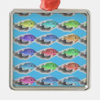 Schwimmen Fishies Silbernes Ornament
