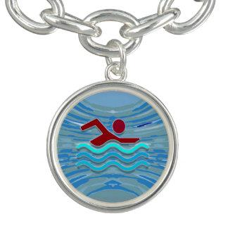 Schwimmen-Freundin des Charm Armbänder