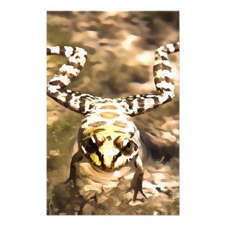 Schwimmen-Frosch Briefpapier