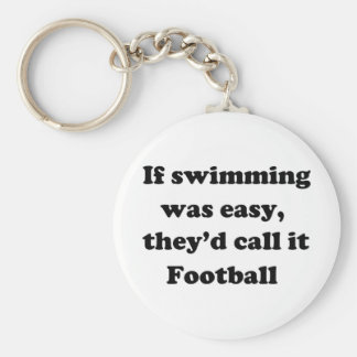 Schwimmen-Fußball Standard Runder Schlüsselanhänger