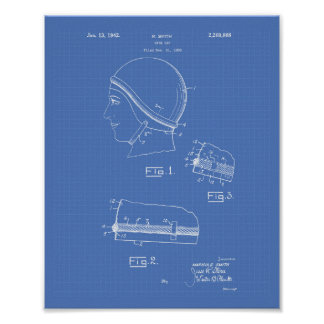 Schwimmen Gap 1942 patentiert Kunst-Plan Poster