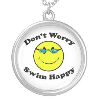 Schwimmen glücklich versilberte kette