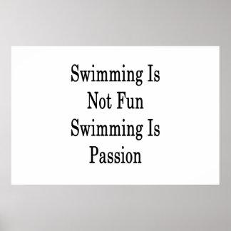 Schwimmen ist nicht Spaß-Schwimmen ist Poster