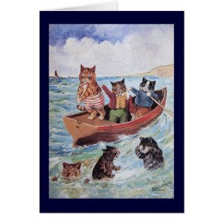 Schwimmen-Katzen Louis Wains Karte