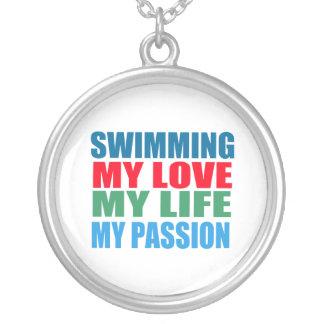 Schwimmen-Leidenschaft Versilberte Kette