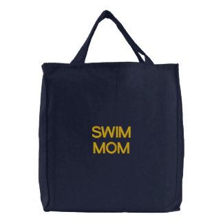 SCHWIMMEN MAMMA gestickte Tasche