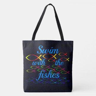 Schwimmen mit den Fischen Tasche