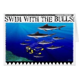 Schwimmen mit der Stier-Karte (freier Raum) Karte