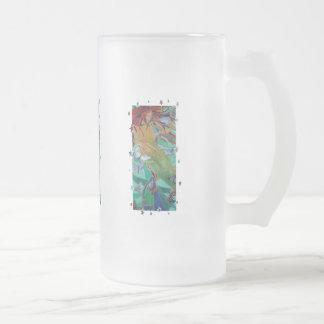 Schwimmen mit Schmetterlingen Mattglas Bierglas