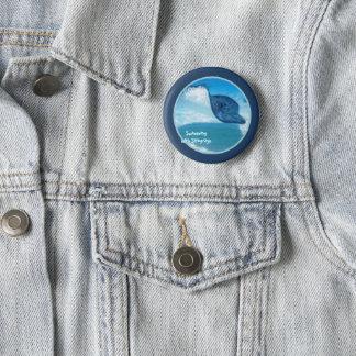 Schwimmen mit Strahlen Runder Button 5,7 Cm