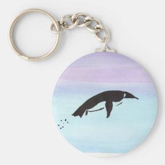 Schwimmen-Pinguin Schlüsselanhänger